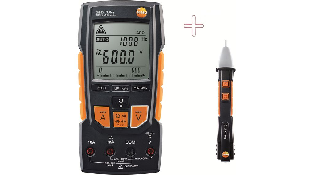 Buy Multimeter digital with Non-contact Voltage Tester TRMS AC + DC 600 VAC 600 VDC