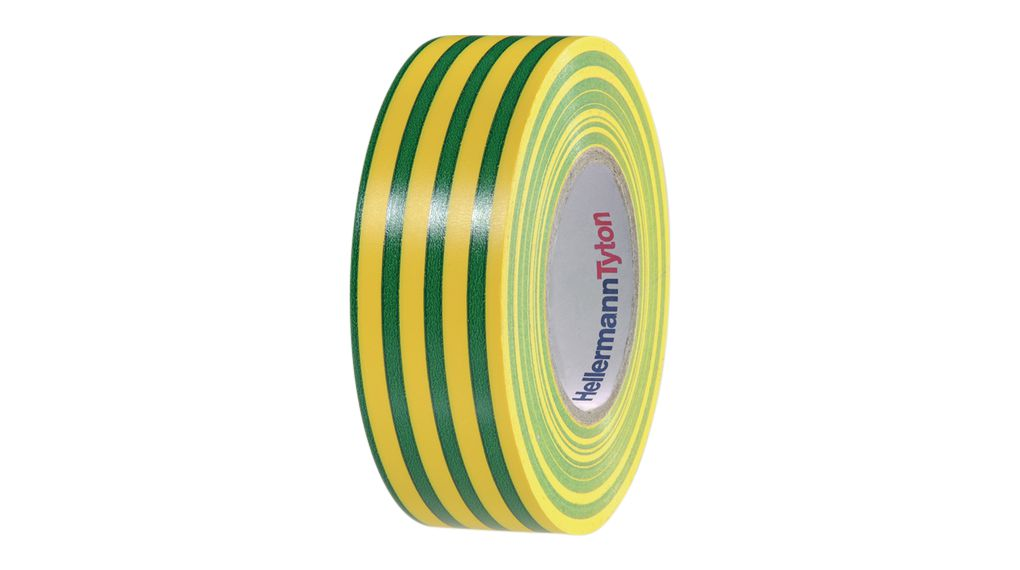 PVC Electrical Insulation Tape 25 mm x 25 m Green / Yellow