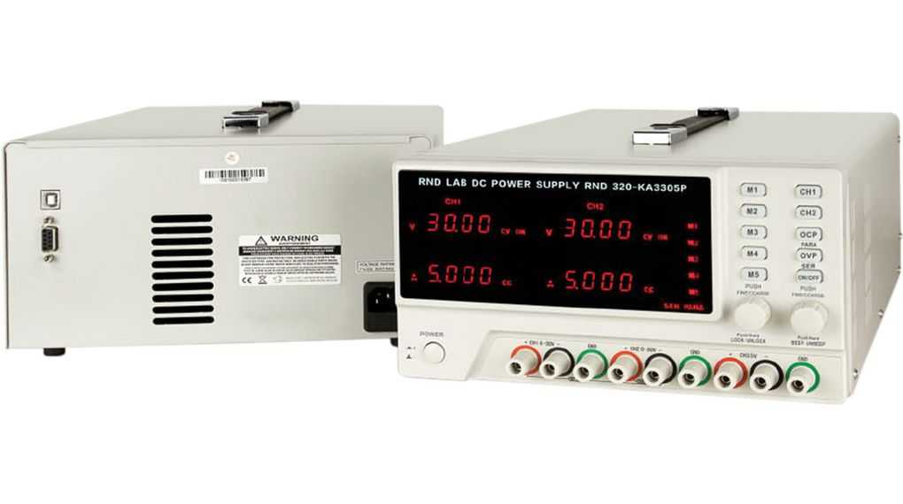 Rnd 320ka3305p Bench Top Power Supply Number Of Outputs 3 Voltage