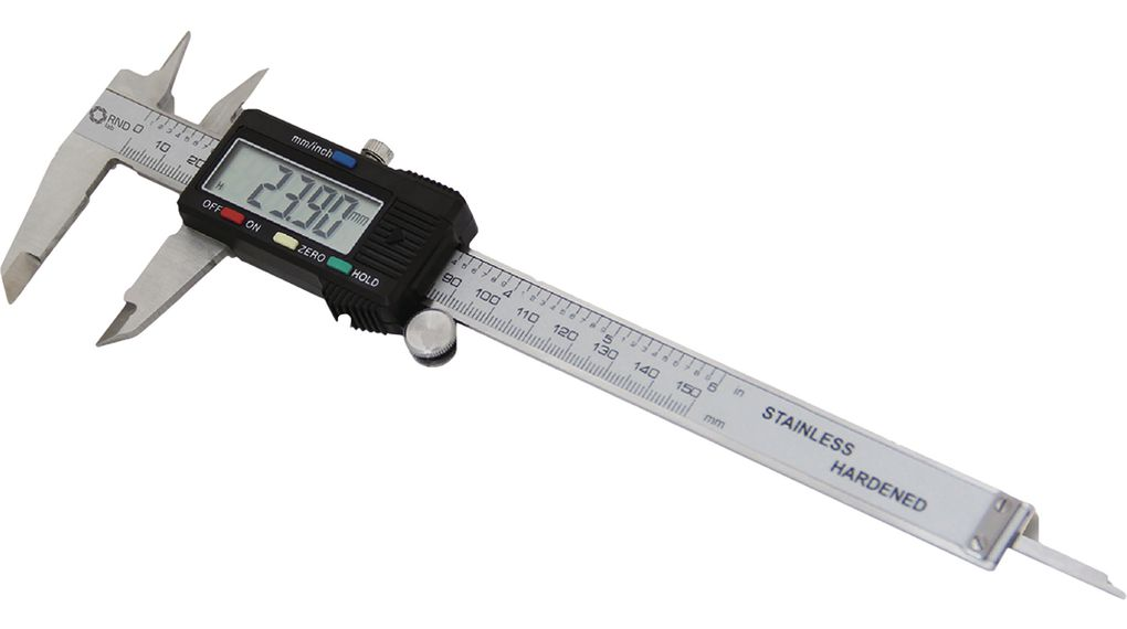 Digital Sliding Caliper 150mm Stainless Steel LR44 1 5V