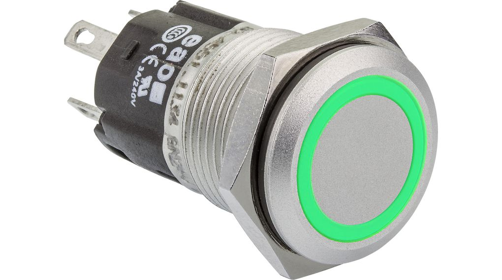 Buy Illuminated Pushbutton Stainless Steel 240 VAC 3 A 1 Change-Over (CO)