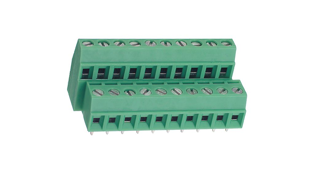 PCB Terminal Block 0 14   1 5 mm² solid 0 14   1 mm² stranded 3 81 mm, 10  Poles