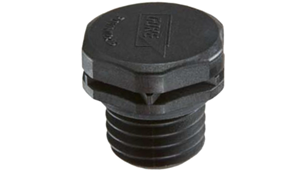 Buy Pressure compensation element, PA 6 (UL94-V0) Black, Screw Mounting M12 x 1.5