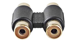 yan 2X RCA Female to 6.3mm 1//4 Mono Male Audio Adapter Gold Plated Jack F//M