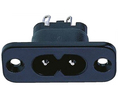 Buy Panel Mount IEC Plug black
